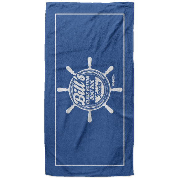 WHW Bill's Glass Bottom Boat Ride - Beach Towel - 37x74