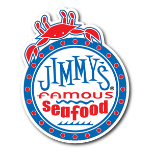 Jimmy's Famous Seafood Die Cut Sticker