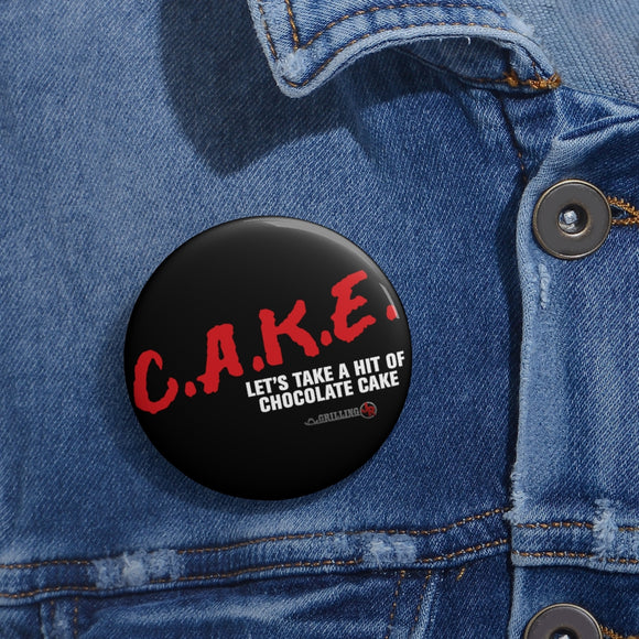Chocolate Cake Pin Buttons