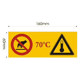 How It Works: the Tempsafe 70 surface temperature warning label