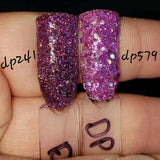 Passionate Kiss DP579 fine with chunky pink/Purple glitter
