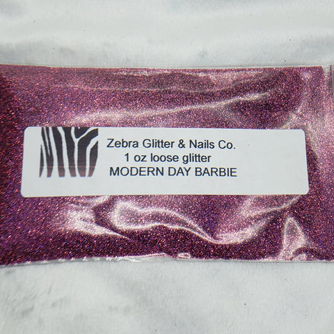 Holographic Loose Glitter Sales: MODERN DAY BARBIE .008 ultra fine custom mix pink