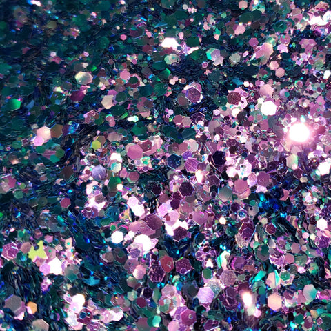 Loose Glitter Sales: CANDY POP Chunky Chameleon Glitter - shifts blue to pink