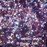 Iridescent Loose Glitter Sales: MOSAIC GRAPE .040 chunky purple