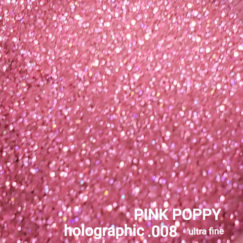 Holographic Loose Glitter Sales: PINK POPPY .008 ultra fine holographic pink