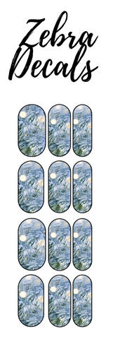 Accessories: Nail Waterslide Nail Wrap Decals - SNOW COVERED EVERGREEN