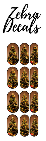 Accessories: Nail Waterslide Nail Wrap Decals - CHRISTMAS TREE