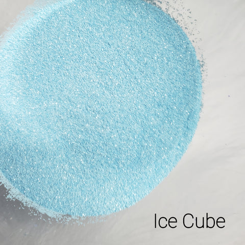 Cosmetic Satin Loose Glitter Sales: ICE CUBE blue ultra fine .008 mix
