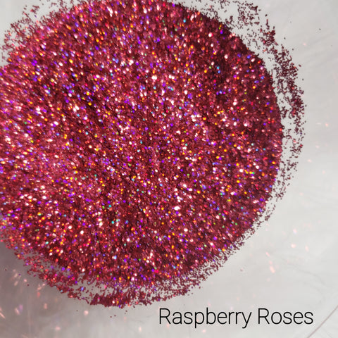 Holographic Cosmetic Loose Glitter Sales: RASPBERRY ROSES .008 ultra fine bright pink custom mix