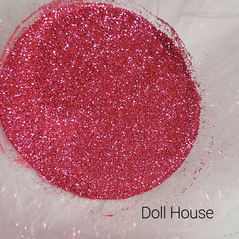 Cosmetic Metallic Loose Glitter Sales: DOLL HOUSE .008 ultra fine pink