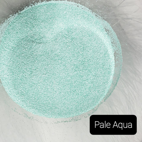 Cosmetic Satin Loose Glitter Sales: PALE AQUA .008 ultra fine blue/green aqua