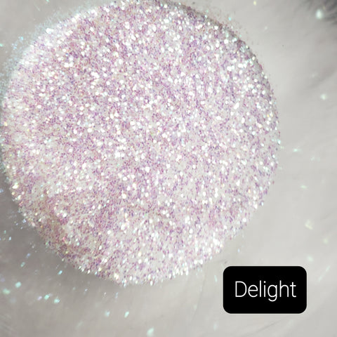 Cosmetic Iridescent Loose Glitter Sales: DELIGHT .015 fine mix purple/opal