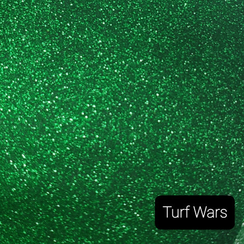 Cosmetic Pearlescent Loose Glitter Sales: TURF WARS .008 ultra fine custom mix green