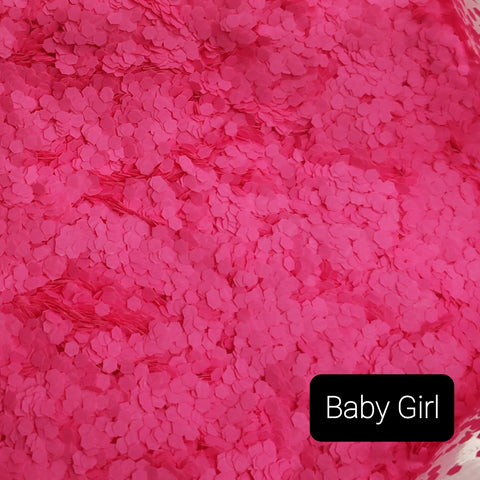 Fluorescent Neon Matte Loose Glitter Sales: BABY GIRL .062 fat light pink