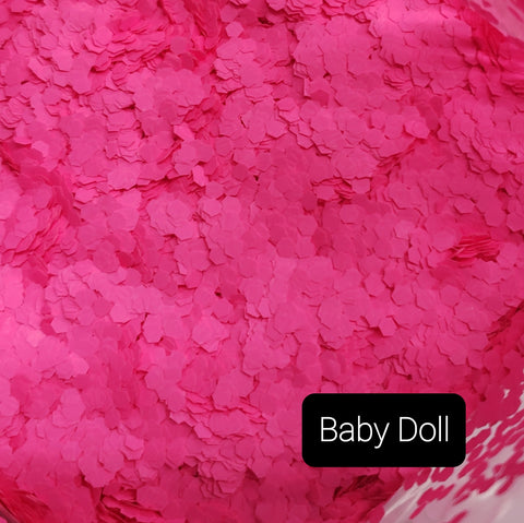 Fluorescent Neon Matte Loose Glitter Sales: BABY DOLL .094 jumbo light pink