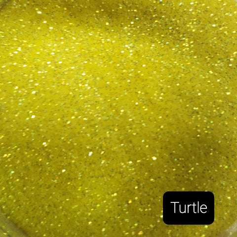 Cosmetic Iridescent Loose Glitter Sales: TURTLE ultra fine .008 mix yellow/green