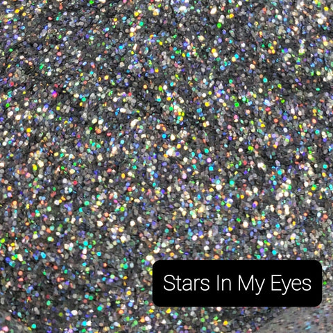 Holographic Cosmetic Loose Glitter Sales: STARS IN MY EYES .015 fine custom mix silver