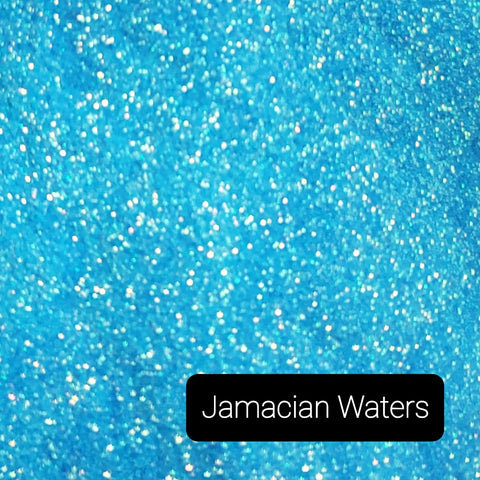 Cosmetic Iridescent Loose Glitter Sales: JAMAICAN WATERS .008 ultra fine mix blue green aqua
