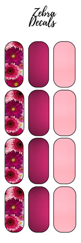 Accessories: Nail Waterslide Nail Wrap Decals - SPRING FLOWERS 3