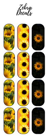 Accessories: Nail Waterslide Nail Wrap Decals - SUNFLOWERS 4