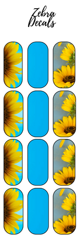 Accessories: Nail Waterslide Nail Wrap Decals - SUNFLOWERS 2