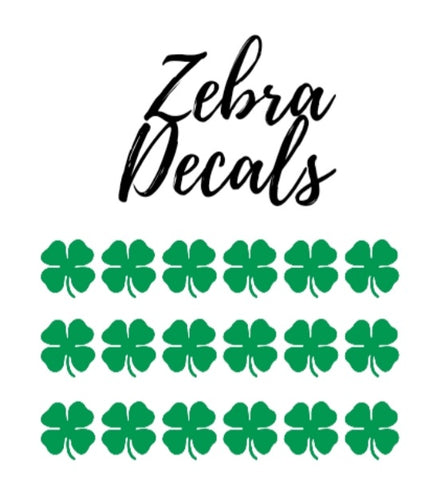 Accessories: Vinyl Nail Decals - SHAMROCKS