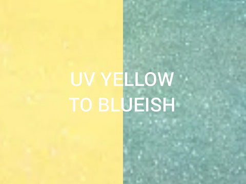 Sunshine & Seafoam GLS19 Yellow to Blueish UV Sun Changer Glitter***