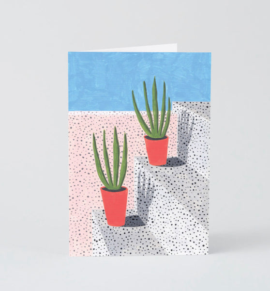 Plant study 3 card - large