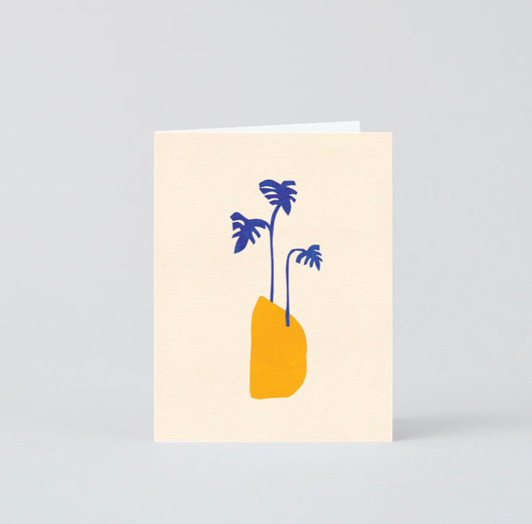 Blue afternoon card - small