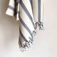 Turkish towel - blue stripe
