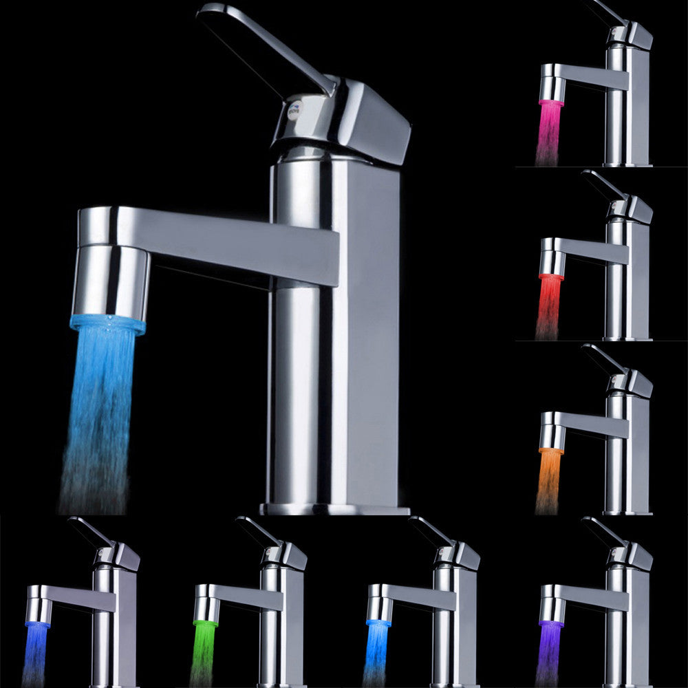 7 Color LED Water Faucet – DavaBath