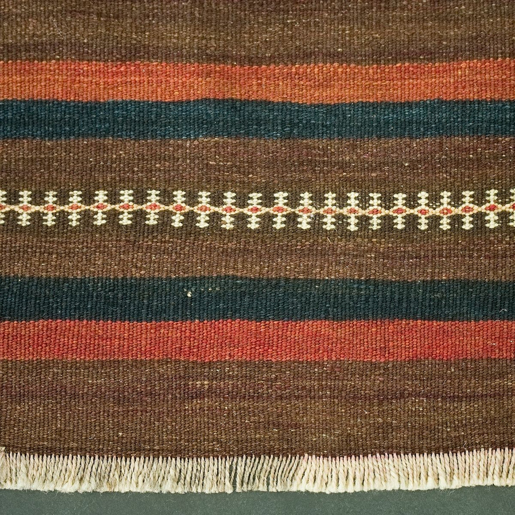 AFGHANI BROWN/NAVY KILIM 1360X2220