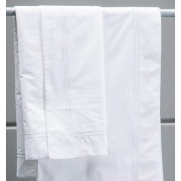 Livorno sheets- white with white stitching