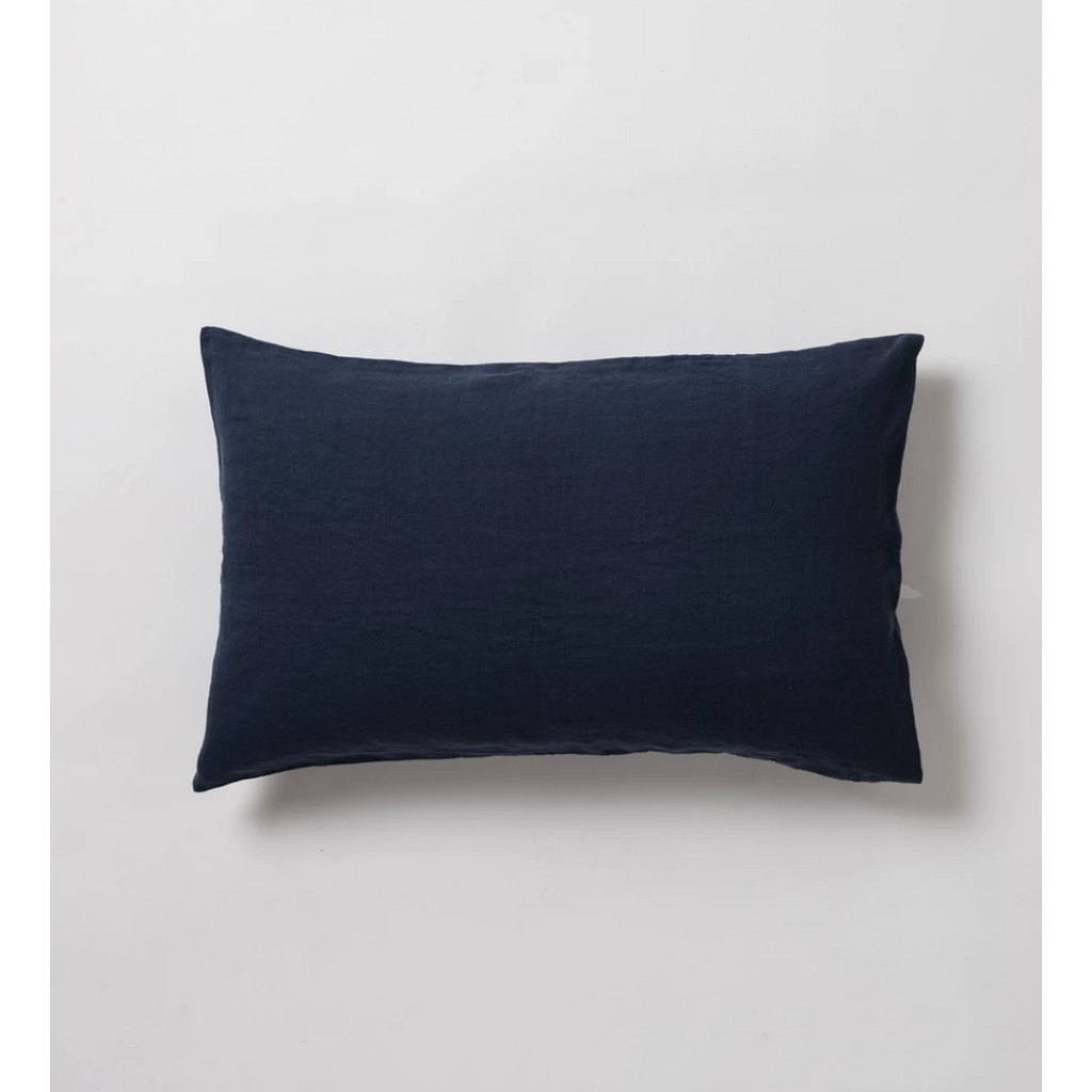 Sove Linen Pillowcase Pair - Navy