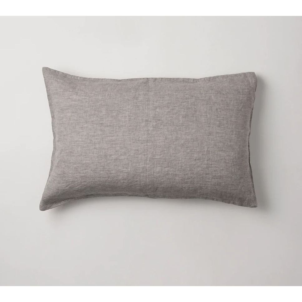 Sove Chambray Linen Pillowcase Pair - Ash