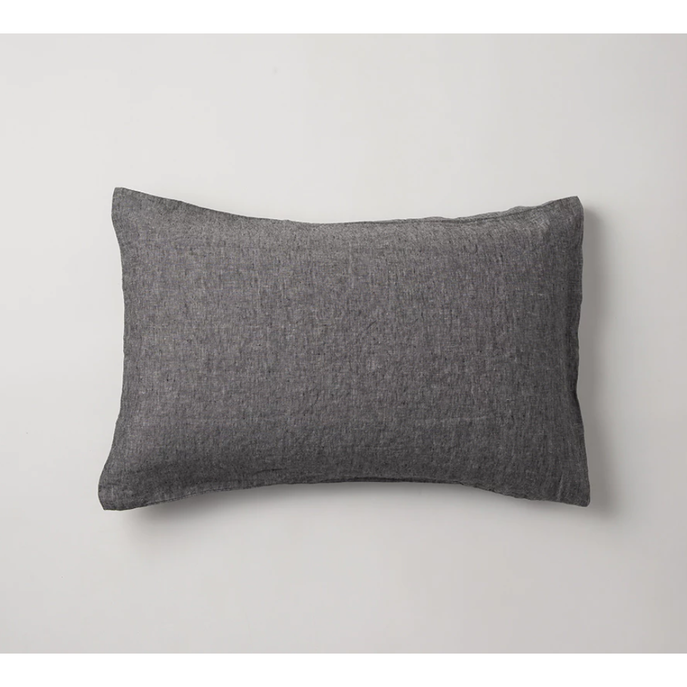 Sove Chambray Linen Pillowcase Pair - Charcoal