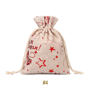 EcoFriendly Canvas Christmas Candy Bag