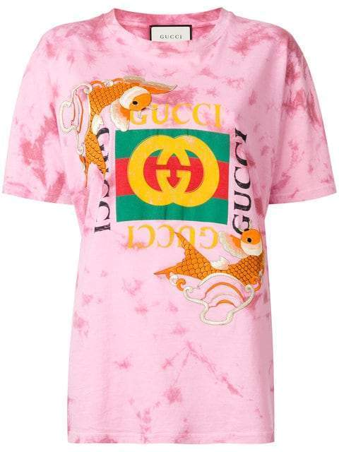 7ebc33ce51a Fish Embroidered Gucci Logo T-Shirt. Hot. New