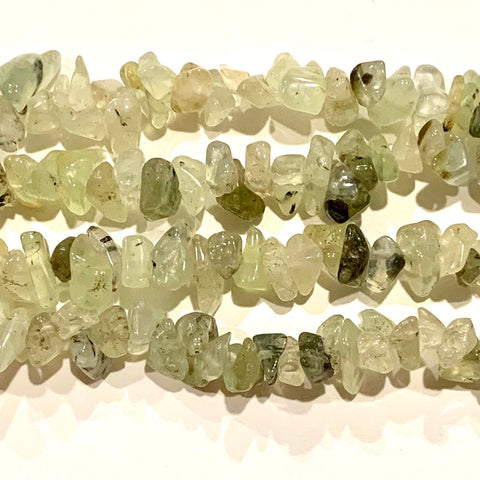 Prehnite Chip Beads