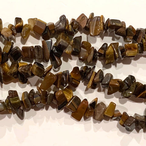 Tiger Eye Chip Beads