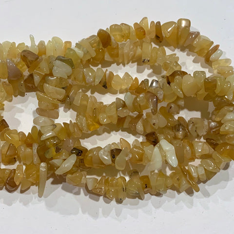 Yellow Opal Chip Beads