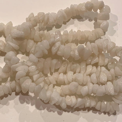 Snow Quartz Chip Beads