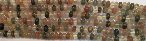 6mm Rutilated/Chloride Quartz Beads