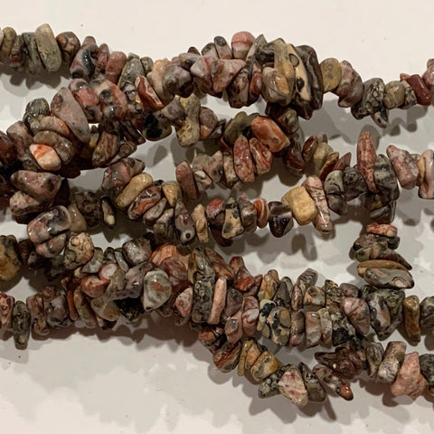 Leopardskin Jasper Chip Beads