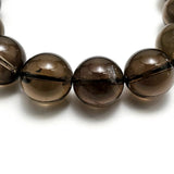 15mm Smokey Quartz Beads