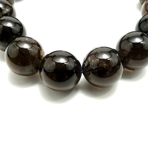 20mm Smokey Quartz Beads