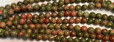 6mm Unakite Beads