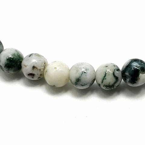 5mm Green Tree Agate Beads