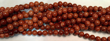 4mm Goldstone Beads