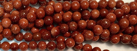 8mm Goldstone Beads